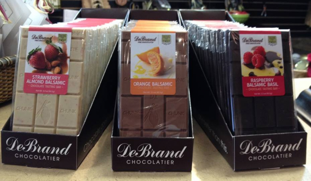 Olive Twist and DeBrand Partner on New Chocolate Bars